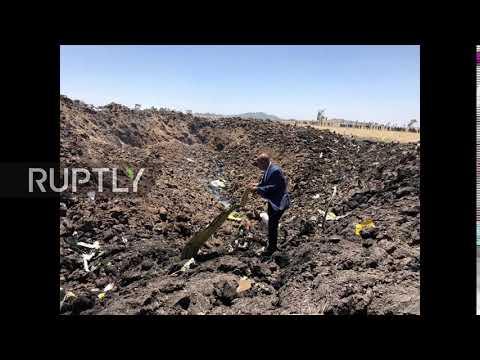 Ethiopia: Debris scattered at site of deadly Ethiopian Airlines crash *STILL*