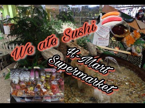 Omg!!! We ate Sushi!!! H-Mart Supermarket