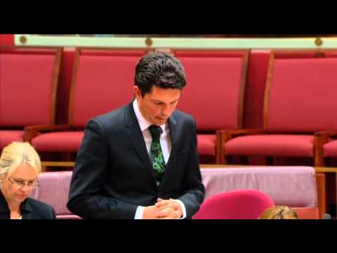 Senator Ludlam asks why the Parl Joint Standing Cttii on Intelligence and Security doesn't exist