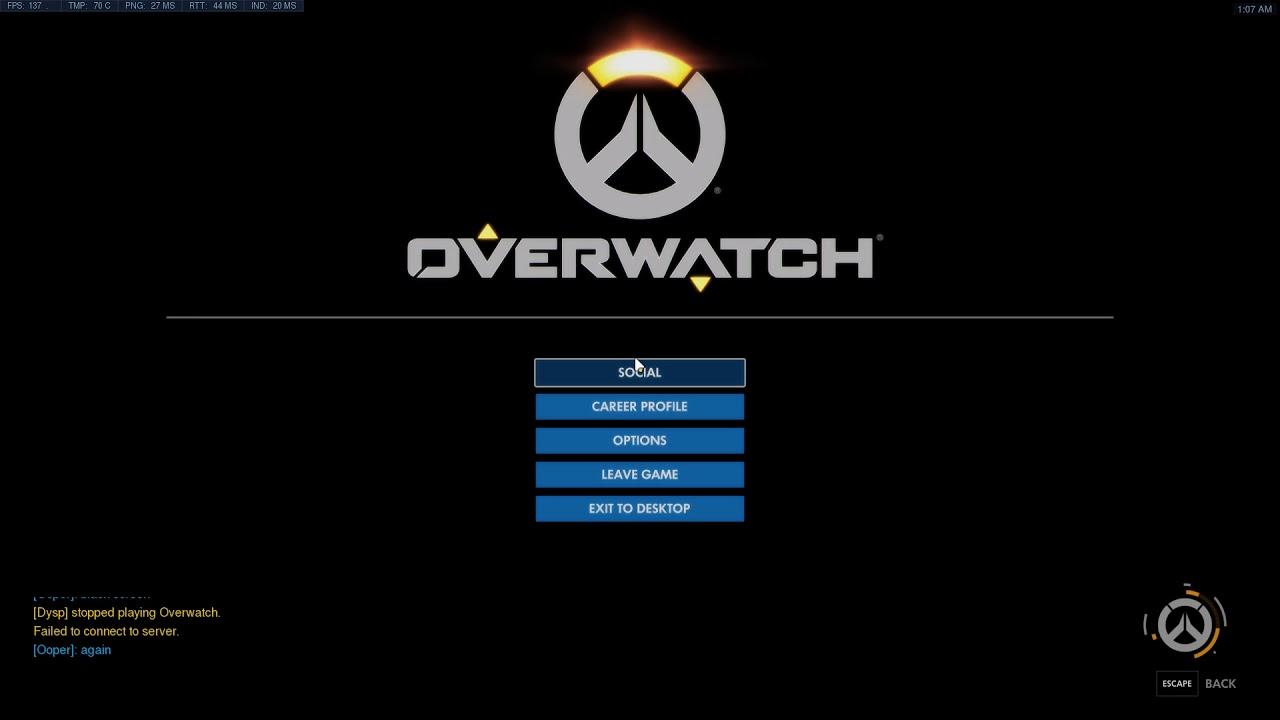 Overwatch Black screen server bug
