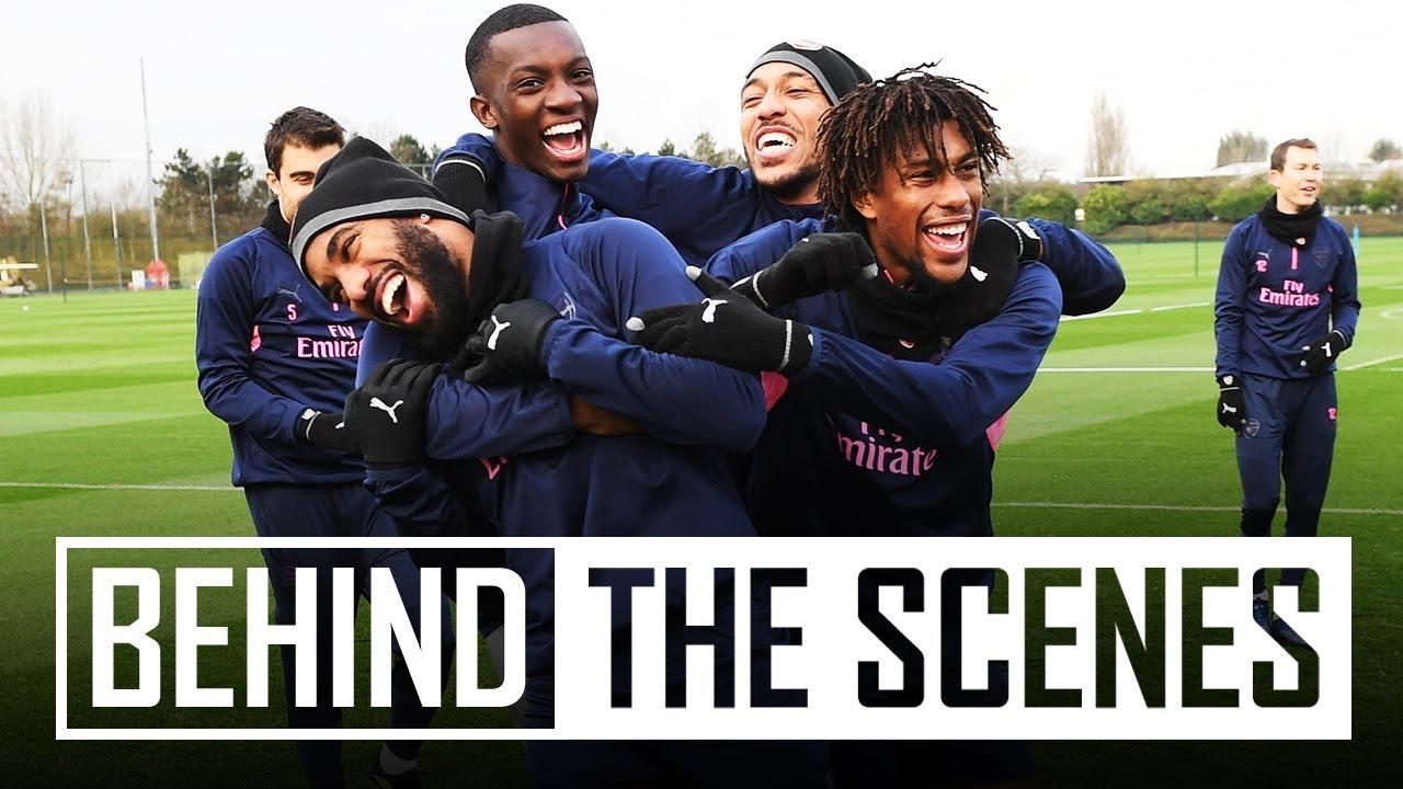 Team spirit level = 100 | Behind the scenes at Arsenal training centre