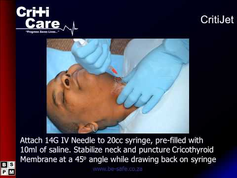 CritiJet Jet Insufflation Device Introduction from Be Safe Paramedical South Africa