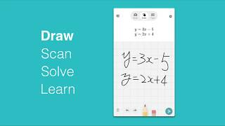 Draw, Scan, Solve, and Learn!