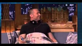 Why is hugh jackman sleeping on fallon's couch ?