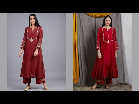 Red Cotton Kurti Designs 2019 | Indian Fashion 2019