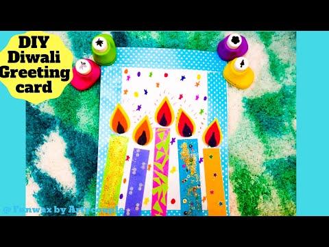 Diwali greeting card tutorial | DIY Diwali card making ideas | Happy Diwali