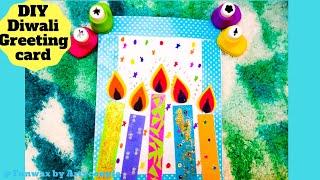 Diwali greeting card tutorial   DIY Diwali card making ideas   Happy Diwali