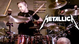 Moth Into Flame - Metallica - Drum Cover - 10 year old Drummer - Avery Drummer Molek