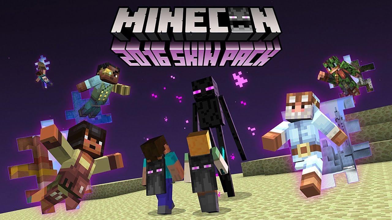 Minecraft Minecon Skin Pack YouTube - Descargar skins para minecraft pe gamer