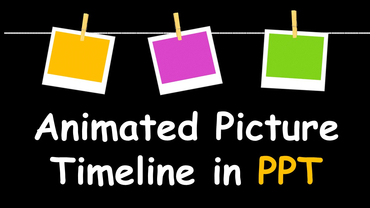 creative powerpoint timeline with photos