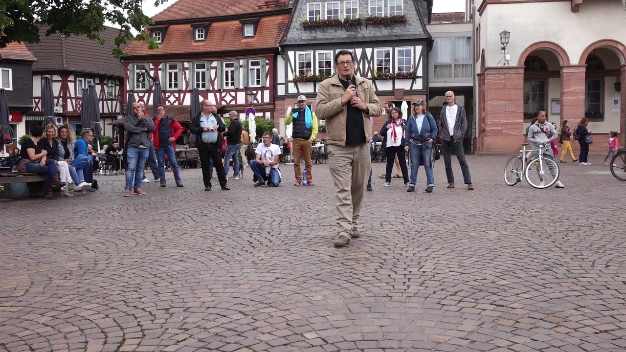 Mahnwache gegen Existenzvernichtung - Redefreiheit - 07.06.2020 Bürgerbewegung Seligenstadt
