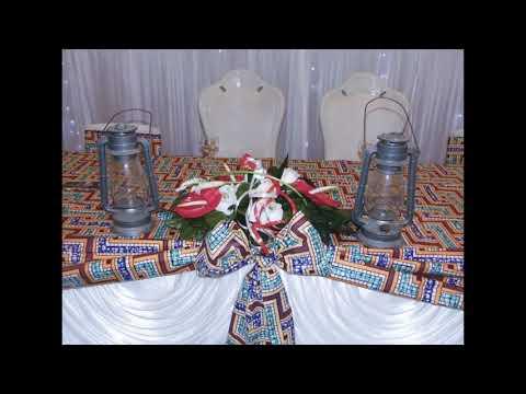 Décoration de la salle pour le mariage coutumier de Yan et Lucie de la RDC .
