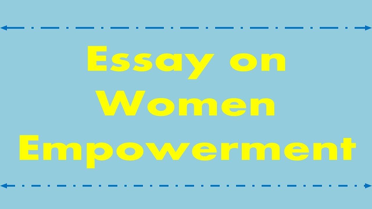 Essay about women empowerment