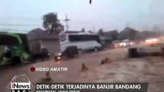 Video Amatir Detik Detik Terjadinya Banjir Bandang Di Pasuruan - INews Pagi 06/01