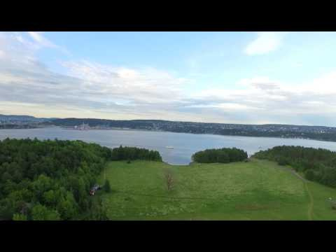 Test flight in Long Islands (Langøyene) Norway , Oslo