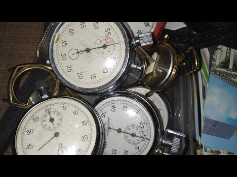 Мега лот часы секундомеры и календарики ссср