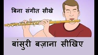 Flute for beginners Part-1 !! बिना संगीत �...