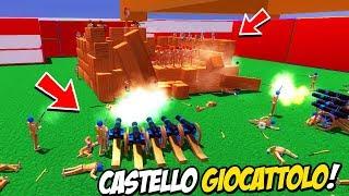 I CANNONI ASSEDIANO IL CASTELLO DEI GIOCATTOLI!   Wooden Battles ITA
