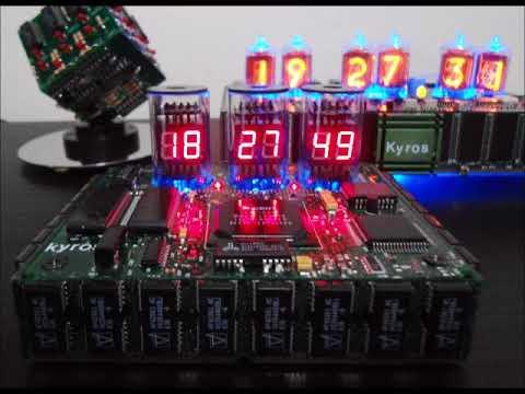 fake nixie tube clock