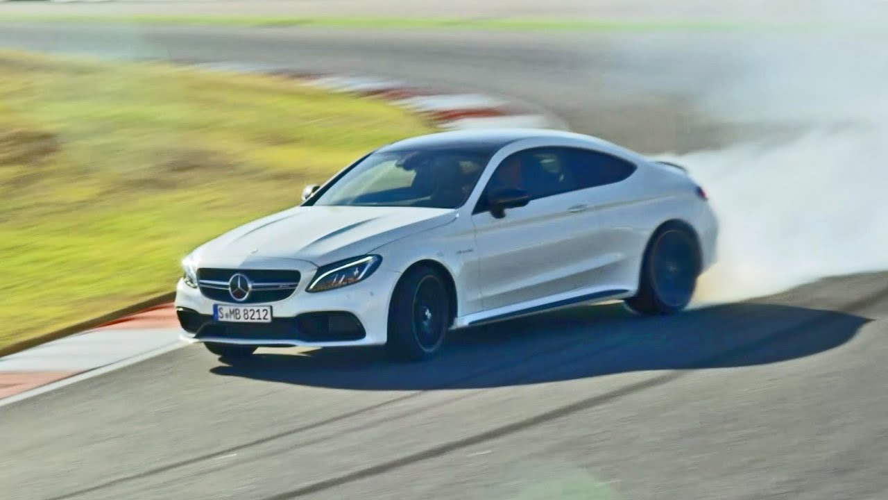 ► 2016 Mercedes C 63 S AMG Coupe on Racetrack - Good Exhaust Sound - YouTube