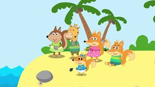 Fox Family Сartoon for kids - Adventures with The Foxes movie for children #574