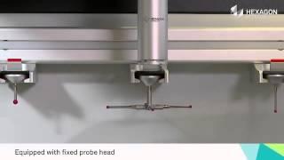 Scanner industrial executa aquisição tridimensional