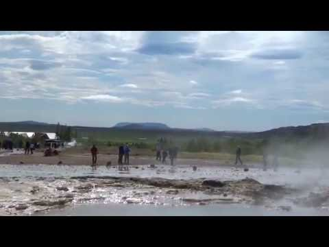 Iceland geyser eruption - what a moment!