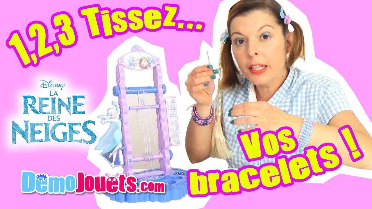 Diy La Reine Des Neiges Disney Mon Metier A Tisser Demo Jouets
