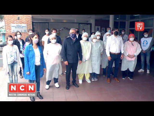 CINCO TV - Zamora y Kreplak monitorearon los puntos de vacunación contra el Covid-19 en Tigre