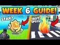 Fortnite WEEK 6 CHALLENGES! - Secret Star?, Hot Spots, and Vehicles (Battle Royale Season 9 Guide)
