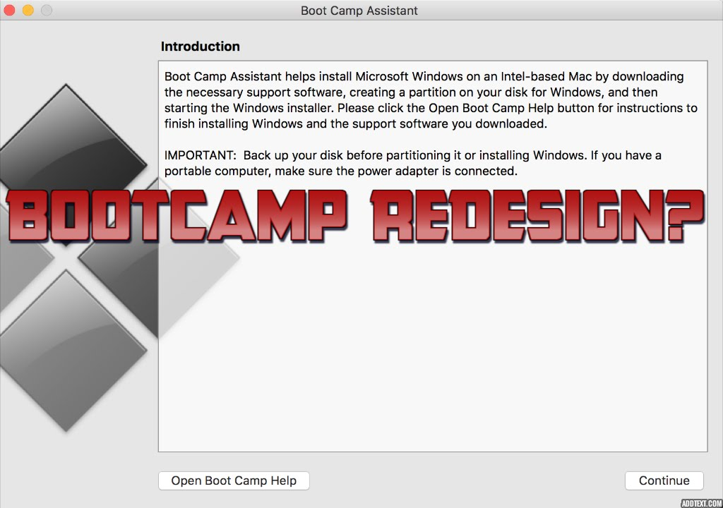 Changes To Boot Camp Assistant In Os X 1011 El Capitan Youtube