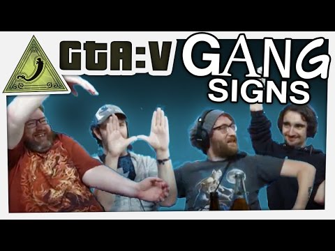 GTA 5 Online Funny Moments With Simon - Gang Signs