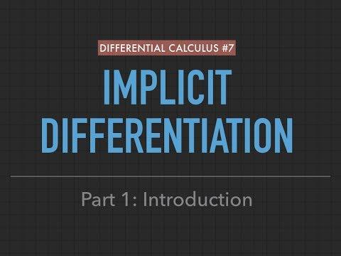Derivatives #7: Implicit Differentiation