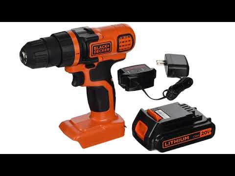 Must See Review 2017! BLACK+DECKER LDX120PK 20-Volt MAX Lithium-Ion Drill and Project Kit