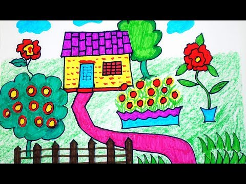 how-to-draw-house-coloring-pages-|-drawing-for-kids-&-children-learning-colors-for-toddlers