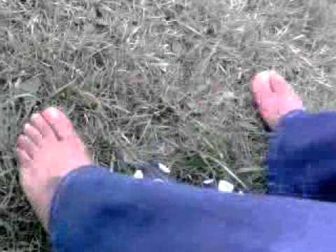 pretty pink toes on the grass