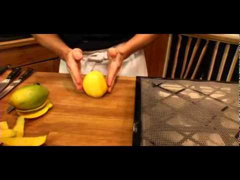 Chef Joe Ciminera demostrates candied mangoes