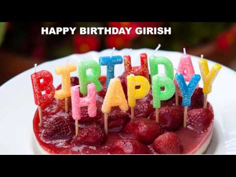 Girishversionee of Girish   Cakes Pasteles - Happy Birthday