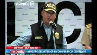 "Ministro Daniel Urresti: Ahora, tras caida de Orellana ""la mafia debe estar en pánico total"""