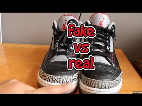 d7b72a7bc1387a Jordan Retro 3 2011 vs Jordan Retro 3 CDP 2008 (Fake vs. Real) Is  Mentalkicks.com legit