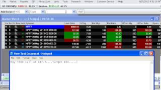 Live performance of my tip of nifty option on trading terminal 29-April-2013