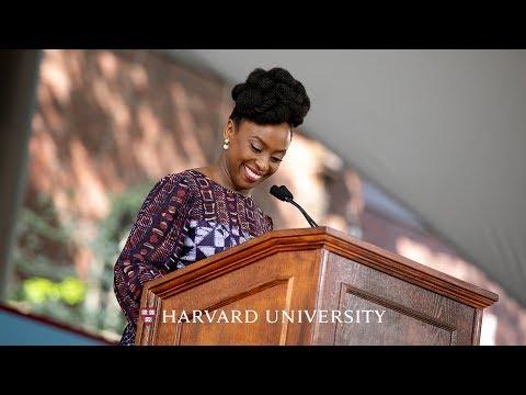Author Chimamanda Ngozi Adichie addresses Harvard\'s Class of 2018