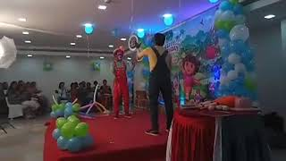 Facebook live Video at Birthday Party Clown act juggling Chennai Event Entertainers 9003087198