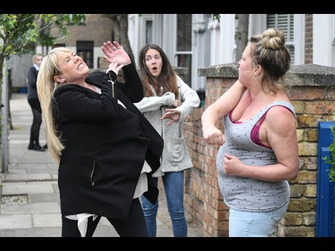 EastEnders  Karen Taylor Punches Sharon Mitchell 16th June 2017