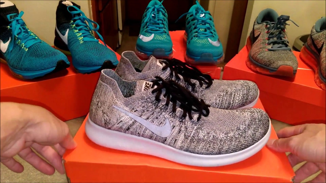 444a735c09b4bb BEST NIKE RUNNERS  2017 NIKE RN FLYKNIT RUNNING SHOES UNBOXING ...