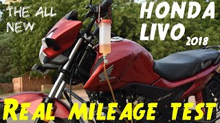Honda livo 110cc Real mileage test :: 2018