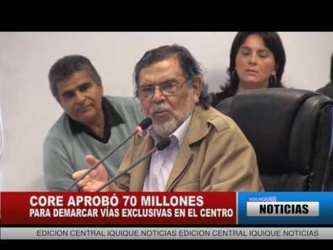 CORE APROB 70 MILLONES PARA DEMARCAR VAS EXCLUSIVAS EN EL CENTRO IQUIQUE