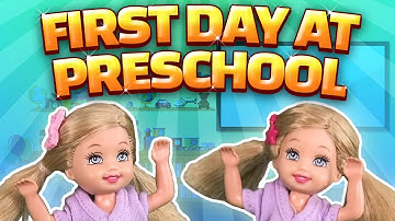 Barbie - The Twins First Day at Preschool | Ep.97