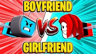 Boyfriend Vs Girlfriend Challenge In Roblox Bee Swarm Simulator