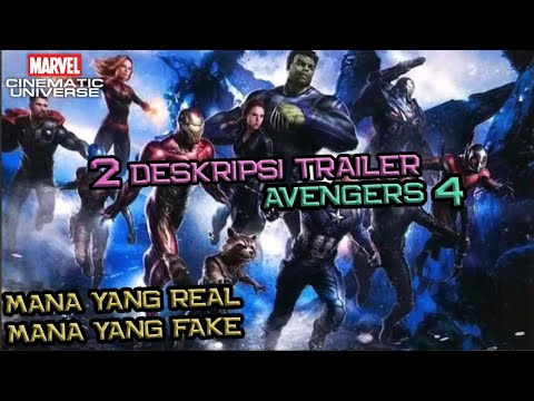 Ini Dia 2 Leaked Trailer Description Avengers 4 | Real or Fake ?? | Marvel Indonesia